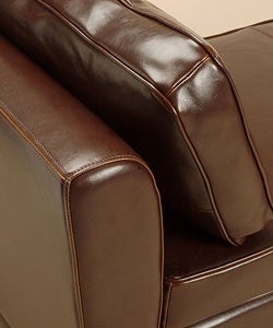 Paris Dark Brown Leather Bench/Daybed - Thumbnail 2