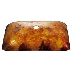 Kraus Amber Rectangular Glass Vessel Sink