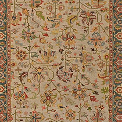 Hand-knotted Sangli Collection Wool Rug (9' x 12') - Thumbnail 2