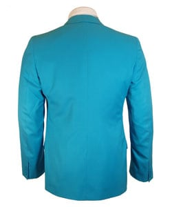 Gianni Versace Couture Men's Turquoise Sport Coat - Thumbnail 2