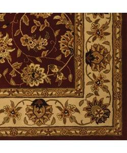 Safavieh Handmade Isfahan Burgundy/ Ivory Wool and Silk Rug (6' x 9')