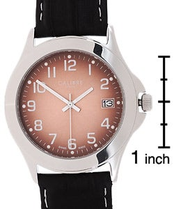 Thumbnail 3, Calibre Metallic Copper Dial Leather Strap Watch. Changes active main hero.