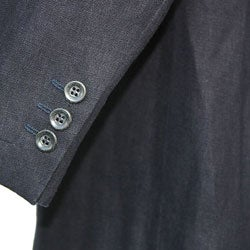 Thumbnail 3, Armani Men's Three-button Hemp Suit. Changes active main hero.