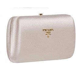 Prada 'Raso Gold' Beige Satin Mini Clutch - Thumbnail 2
