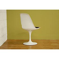Redd White Chair with Black PVC Cushion