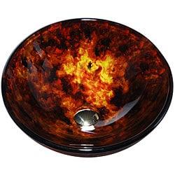 Kraus 14-inch Fire Opal Glass Vessel Sink - Thumbnail 2