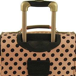 Olympia Spearmint 4-piece Polka Dot Luggage Set - Thumbnail 2
