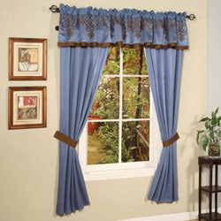 Blue Jacquard 22-piece King Comforter Set - Thumbnail 2