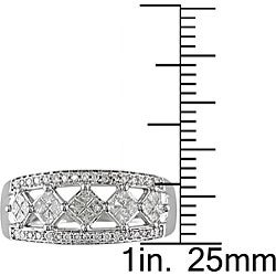 14k Gold 1/2ct TDW Princess and Round Diamond Ring