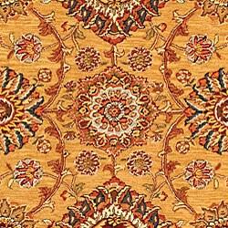 Safavieh Handmade Ancestry Gold/ Burgundy Wool and Silk Rug (5' x 8') - Thumbnail 2