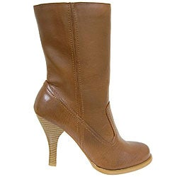 Anne Michelle by Journee Mid-calf High Heel Boots - Thumbnail 2