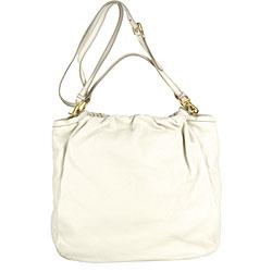 Prada White Pebbled Leather Shopping Bag - Thumbnail 2