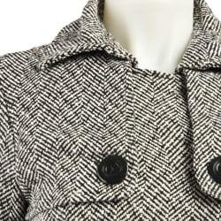 Last Kiss Women's Tweed Herringbone Trench Coat