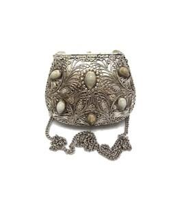 Agate Inlaid Stone Evening Handbag (India) - Thumbnail 2