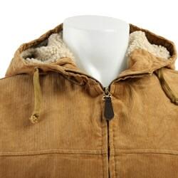 Shop Lee Men S Sherpa Lined Hooded Corduroy Jacket Free