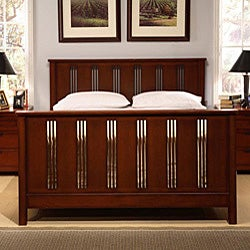 Cherry Mission-style 6-piece Queen Bedroom Set - Thumbnail 2