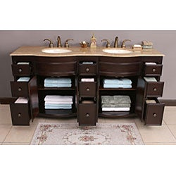 Katrina 72-inch Double Sink Bathroom Vanity - Thumbnail 2