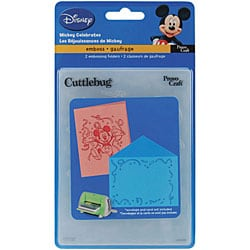 Cuttlebug 'Mickey Celebrates' A2 Embossing Cartridge Set