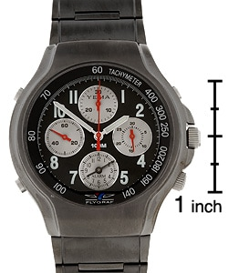 f46f95ebc Shop Yema by Seiko of France Men's Black Dial Flygraf Chronograph Wat - Free  Shipping Today - Overstock - 1612578