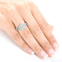 Annello by Kobelli 14k Gold 4/5ct TDW Diamond Engagement Ring (G-H, I1-I2) - Thumbnail 2