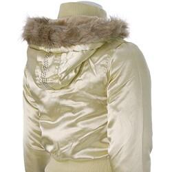 Cappuccino Brand Junior's Faux Fur Puff Jacket