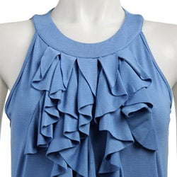 FINAL SALE August Silk Women's Sleeveless Ruffle Top - Thumbnail 2