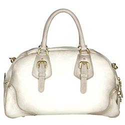 Prada White Pebble Deerskin Bowler Bag - Thumbnail 2