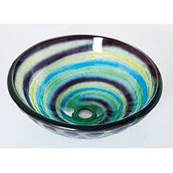 DeNovo Artsy Swirl Glass Bathroom Vessel Sink - Thumbnail 2