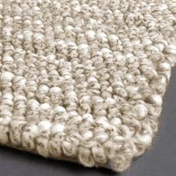 Artist's Loom Hand-woven Wool Shag Rug (5'x7'6) - Thumbnail 2