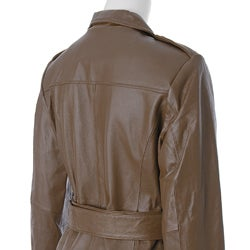 Terry Lewis Women's Lamb Leather Trench Jacket