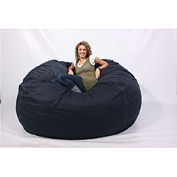 Lovesac Supersac 6 Foot Foam Lounge Chair Navy Free