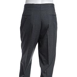 Sansabelt Men S Grey Flat Front Beltless Trousers Free