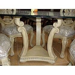 Emilio 5-piece Whitewash Round Dining Table Set