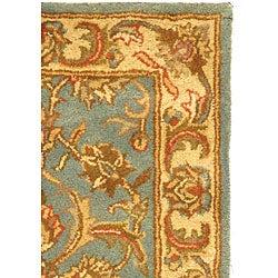 Safavieh Handmade Heritage Timeless Traditional Blue/ Beige Wool Rug (2' x 3') - Thumbnail 2