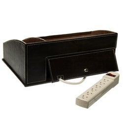 Brown Leather Charging Station / Valet - Thumbnail 2