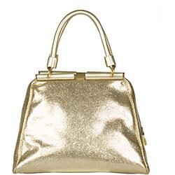 Yves Saint Laurent 'Majorelle Vulcano' Women's Gold Leather Bag - Thumbnail 2