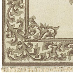 Hand-knotted Bengali Collection Wool Rug (8'3 x 11'6) - Thumbnail 2