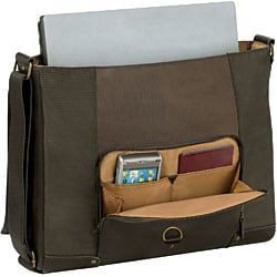 Solo 16-inch Leather Laptop Messenger Bag - Thumbnail 2