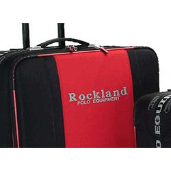 Rockland Polo Equipment Red/Black 4-piece Luggage Set