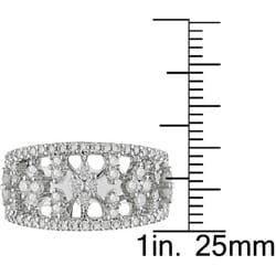 18k White Gold 1 1/10ct TDW Diamond Openwork Ring (G-H, SI1-SI2)