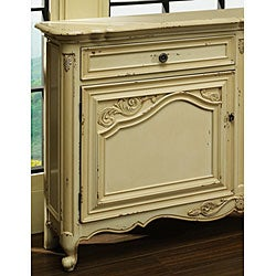 Hand-painted Distressed Buttercream Accent Chest