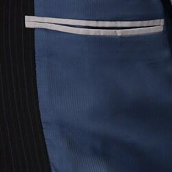Claiborne Men's Navy Multistripe Wool 2-button Athletic Cut Suit - Thumbnail 2