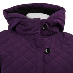 Calvin Klein Women's Hooded Quilt Jacket - Thumbnail 2