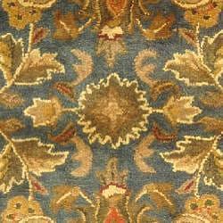 Safavieh Handmade Exquisite Blue/ Gold Wool Rug (4' x 6')