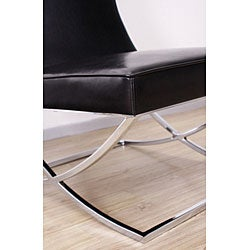 Milano Black Leather Lounger Chair - Thumbnail 2