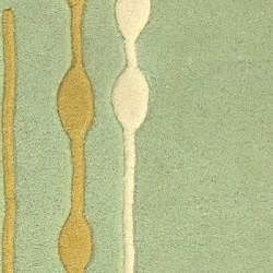 Safavieh Handmade Soho Vines Mint Green New Zealand Wool Rug (2' x 3') - Thumbnail 2