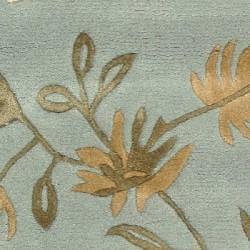 Safavieh Handmade Soho Twigs Light Blue New Zealand Wool Rug (2' x 3') - Thumbnail 2