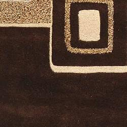 Safavieh Handmade Soho Gala Modern Abstract Brown/ Beige Wool Rug (8'3 x 11') - Thumbnail 2