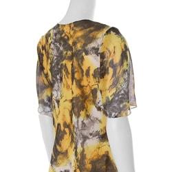Adi Designs Plus Size Yellow 2-piece Pant Suit