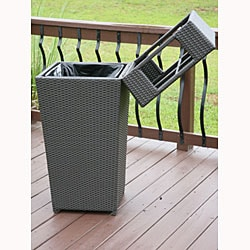 ... All Weather PE Resin Wicker Trash Can   Thumbnail 2